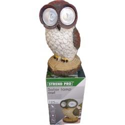Lámpa szolár bagoly 25 cm